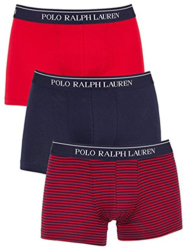 Ralph Lauren Herren Boxershort mehrfarbig Red Navy Stripe Gr. L, Red Navy
