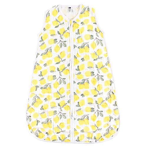 Hudson Baby Unisex Muslin Cotton Sleeveless Wearable Sleeping Bag, Sack, Blanket, Lemons, 18-24 Months