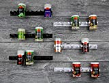 Etagères à Epice Présentoir à épice Support Epice Plastique avec 6 clips rangement adhésif mural