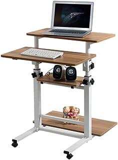 منضدة كمبيوتر متنقلة للمكتب والأثاث المنزلي والمكتب مع كمبيوتر منزلق ومركب للكتابة على طاولة كمبيوتر كمبيوتر