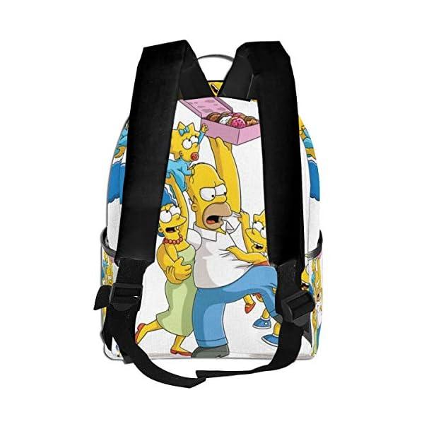 51QcLcNHUjL. SS600  - Anime Cartoon Simpsons - Mochila para Estudiantes, Unisex, diseño de Dibujos Animados, 14,5 x 30,5 x 12,7 cm