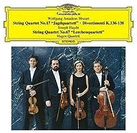 モーツァルト:弦楽四重奏曲第17番「狩り」 他/ハイドン:弦楽四重奏曲第67番「ひばり」