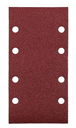 kwb Quick-Stick Schleifpapier – für Schwing-Schleifer K 40, K 60, K 80, K 120 für Holz und Metall, 93 mm x 185 mm, Edelkorund, gelocht mit Klett (15 Stk.)