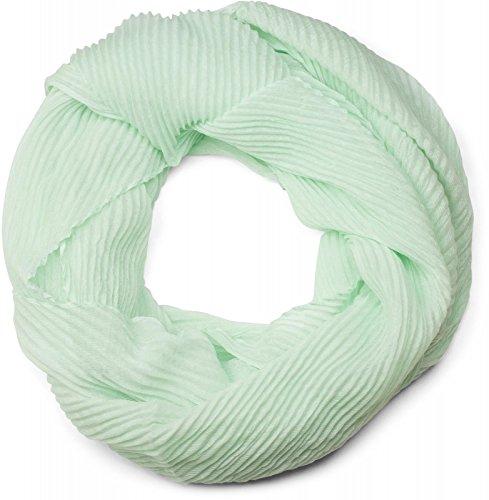 styleBREAKER gekreppter unifarbener Loop Schlauchschal, Crash and Crinkle, Schal, Tuch, Damen 01016127, Farbe:Mint