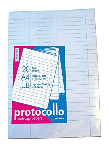 Blasetti - Fogli protocollo uso bollo, A4, 1 pezzo con 20 fogli