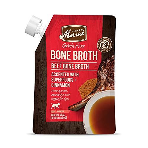 Merrick Grain Free Beef Bone Broth, 16oz Pouch