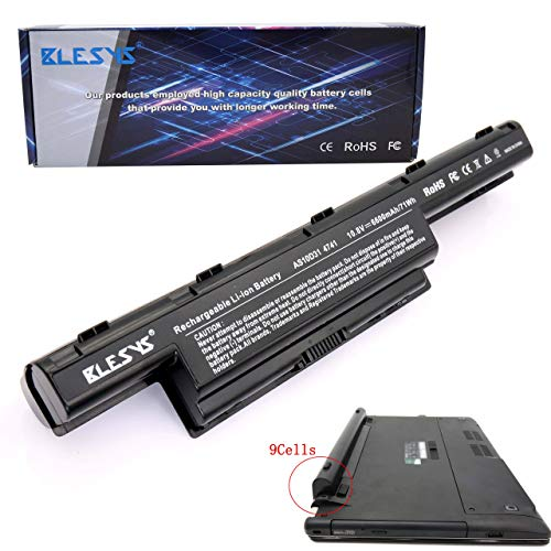 BLESYS 6600mAh/71Wh Batería del Ordenador portátil para Acer Aspire V3-571 V3-571G V3-771 V3-771G E1-571 E1-571G V3-551 E1-521 E1-531 E1-531G 5733 5750 5750G 5742Z 5755G 4551G 4741 4771G 5336 5551