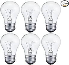 6 pack 15-Watt Decorative A15 Incandescent Light Bulb, Medium (E26) Standard Household Base Crystal Clear