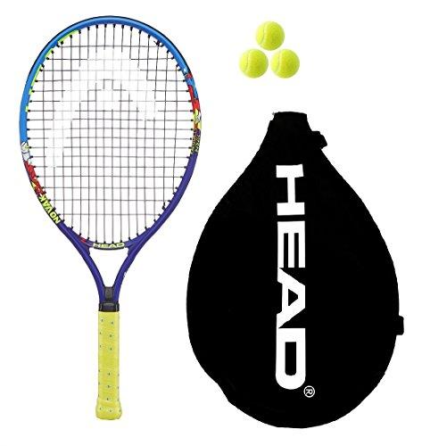 Head Novak Junior 19,21,23,25 Tennisschläger + 3 Bälle (2018), 48,26 cm