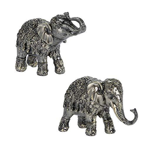 your castle 2 Elefantes en un Conjunto de Figuras Decorativas de Piedra...