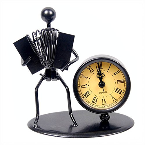 Accordion Figure Desk Clock