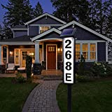 Solar Address Sign Lighted House Numbers for Outside Address Plaques for House Address Numbers for House, Yard, Garden, Waterproof FLSEPAMB (Height 35.3 Inches)