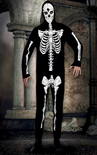 Boland- Costume Scheletro Skeleton Dancer per Adulti, Nero/Bianco, M/L, 79062