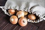jomas design Brotbeutel 100% Leinen – Brot Aufbewahrung 30x40cm nachhaltig umweltfreundlich wiederverwendbarer Brotsack, Brottasche auch Obst Gemüse Einkaufstasche - 8