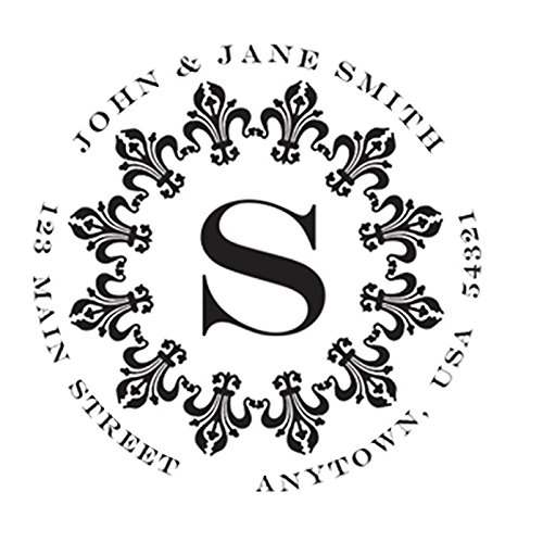 Custom Self Inking Address Stamp with Monogram - Style 190