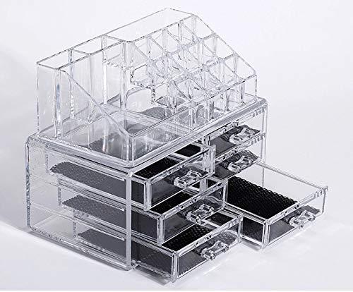 Kosmetische Aufbewahrungsbox Make-up-Kasten Make-up-Box Kosmetische Box No Noise Staubdicht Hohe Transparenz Starke Haltbarkeit Organisation Easy Extract Accessory