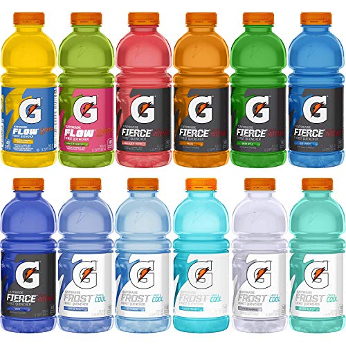 Gatorade Thirst Quencher Variety Pack,12 Flavor Sampler, 20 Ounce Bottles (Pack of 12)