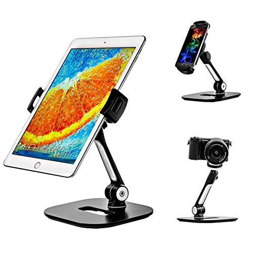 Yzbtj Ajustable Tablet Stand - Ipad Table Stand for Home Or Office - Tablet Holder Fits 7-11 Inches Samsung iPhone Ipad Air Mini Tablets and Phones