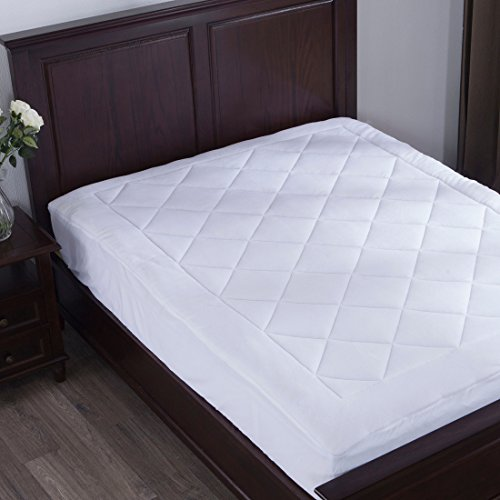Velvelty puredown Mattress Pad Protector with Coral Fleece Quilted Ultra Soft