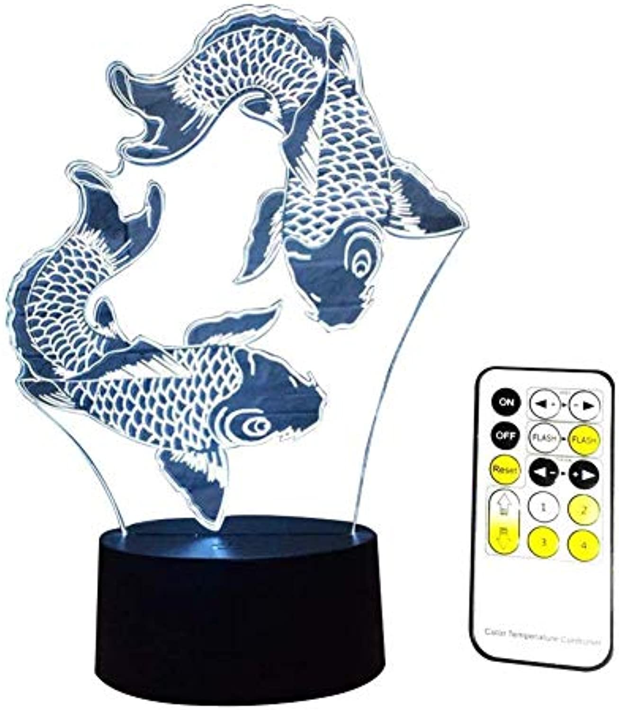 HUAIX Home 3D Nachtlicht 7 Farbwechsel LED Liefern Schreibtisch Tischbeleuchtung Dekoration Spielzeug Romote Steuerung , Mehrfarben Umgebungslicht