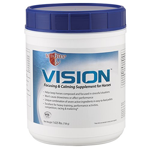 Vita Flex Vision Focusing & Calming Supplement for Horses, Pellets 1.625 Pound