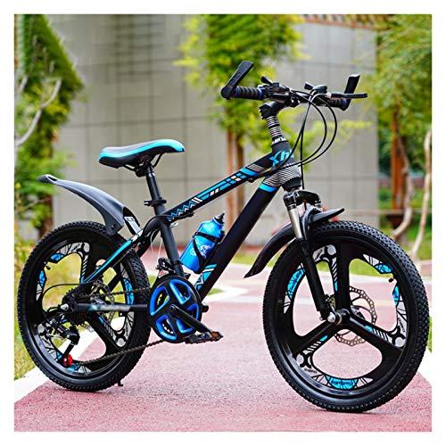 Boys Mountain Bikes, Bambini Bici 20 22 Ruote Da 24 Pollici 21-velocità Smorzamento Variabile Mountain Bicycle Per 6-15 Anni, Ragazzi Ragazze Regali Di Compleanno ( Color : Blue , Size : 24 inches )