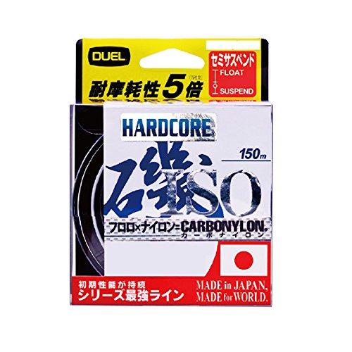 DUEL(デュエル) HARDCORE(ハードコア) カーボナイロンライン 2.5号 HARDCORE ISO 150m 2.5号 O 高視認オレンジ H3402-O