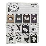 12 Stück zufällig Muster Katze Büroklammer kleine Seite Marker magnetische Lesezeichen