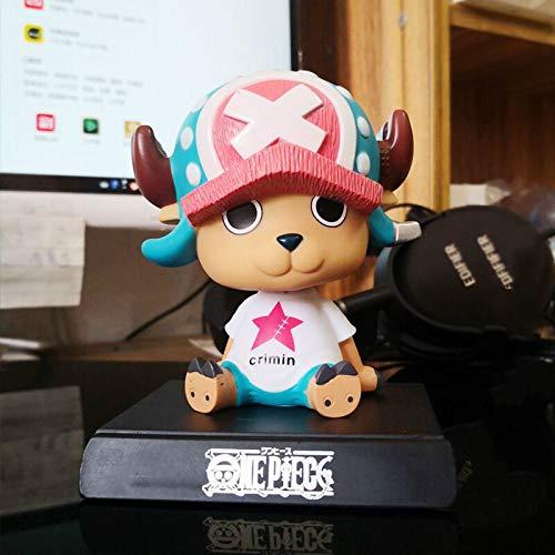 bolin Sombrero De Hierba Niño Lufei Modelo Juguete Choba Coche De Dibujos Animados Action Figure Péndulo PVC 11cm Muñeca Suministros De Decoración Interior 11cm C