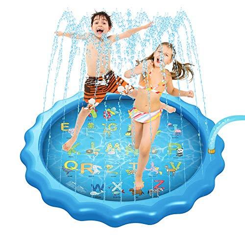 QXbecky Verano al Aire Libre Durante Estera170cmJuguete Inflable del Agua Splash Pad de Piscinas al Aire Libre de los niños de EntretenimientoStyle2 PVCPiscina