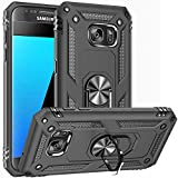 Fetrim Galaxy S7 case, Dual Layer Shockproof Protective Phone Case with Rotation Ring Kickstand for Samsung Galaxy S7 Black