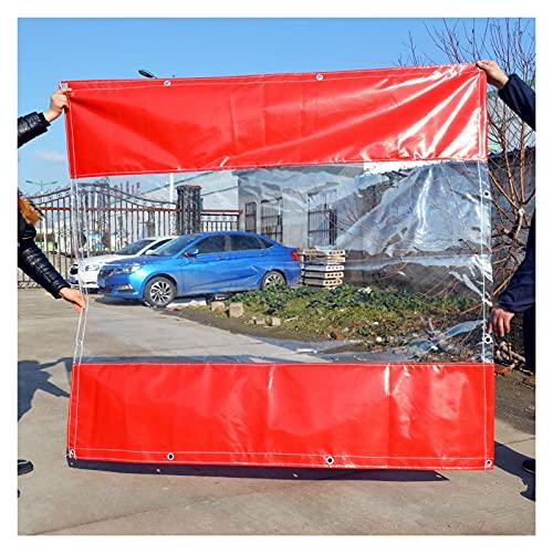 AWSAD Pannelli Laterali per Gazebo da Giardino Tende Balcone Impermeabile PVC Copertura Tenda Trasparente Terrazzo Tende per Esterni,Padiglioni, Terrazze, Serre (Color : Red, Size : 3x2.5m)