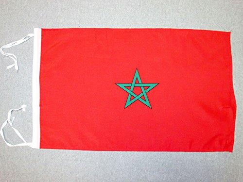 AZ FLAG Flagge MAROKKO 45x30cm mit Kordel - MAROKKANISCHE Fahne 30 x 45 cm - flaggen Top Qualität