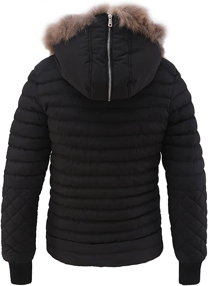 M2C Mens Hooded Thick Quilted Windproof Padded Jacket
