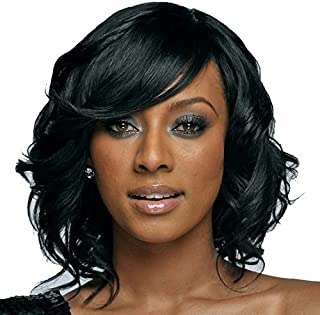 Natural Hairpieces Black Short Hair Female Natural Wig Cap for Everyday Use