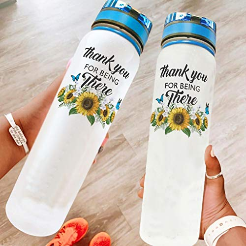 Annlotte Water Bottles – Sunflower 32 oz Non-Toxic Tritan Portable Reusable Gym Bottle for Fitness and Outdoor Use White 1000 ml