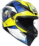 AGV Corsa R Casco para Moto, Hombre, Multicolor, M Corto