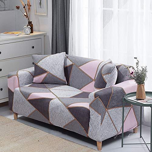 WXQY Fundas de sofá elásticas geométricas Fundas de sofá elásticas para Sala de Estar Protector de Muebles sofá Toalla Funda de sofá A18 1 Plaza