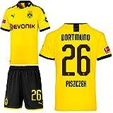 PUMA Borussia Dortmund BVB Heimset 2019 2020 Home Kit Trikot Shorts Kinder Lukasz Piszczek 26 Gr 164