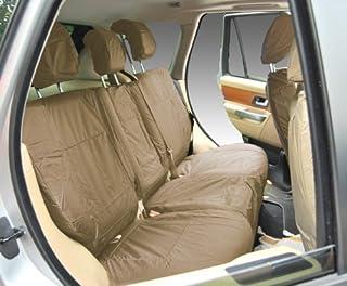 Inka Corp. Funda totalmente impermeable de asiento trasero para Range Rover Sport de 2005–2010, resistente, coches ingleses, color beige - INK-WSC-3548
