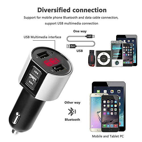 Wireless Bluetooth Car Kit Sender Radio MP3-Player USB-Ladegerät Freisprecheinrichtung, LED-Anzeige Autospannung, Bluetooth FM-Sender, Autoradio-Audioadapter