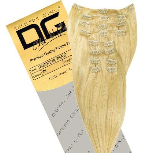 Dream Girl Extensions de cheveux à clipser Couleur SB 35 cm