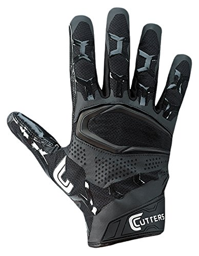 Cutters S541 Rev Pro 3D 2.0 Receiver, Safety, Cornerback Football Gloves with Ultra Sticky C-Tack Grip, Adult