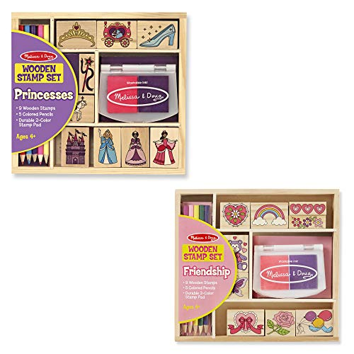 Melissa & Doug Stamp Set Bundle - Princess and Friendship