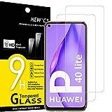 NEW'C 2 Unidades, Protector de Pantalla para Huawei P40 Lite, Antiarañazos, Antihuellas, Sin Burbujas, Dureza 9H, 0.33 mm Ultra Transparente, Vidrio Templado Ultra Resistente