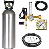 Grow Crew Hydroponic CO2 Enrichment Kit   Includes 20 lb Aluminum CO2 Tank, Carbon Accelerator C02 Regulator, and Active Air Rain System to Shower Your Plants with CO2