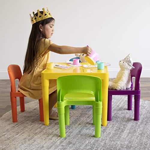 Tot Tutors Kids Plastic Table and Chair Set