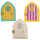 Baker Ross AT535 - Puertas de Madera Hadas - Actividad de Manualidades Primaverales Infantiles para Montar y Exhibir...