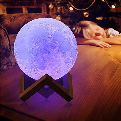 Yangeryang Luces Decorativas, con lámpara de decoración de 8 cm, Interruptor táctil Recargable, luz de decoración de la luz de la Luna, lámpara