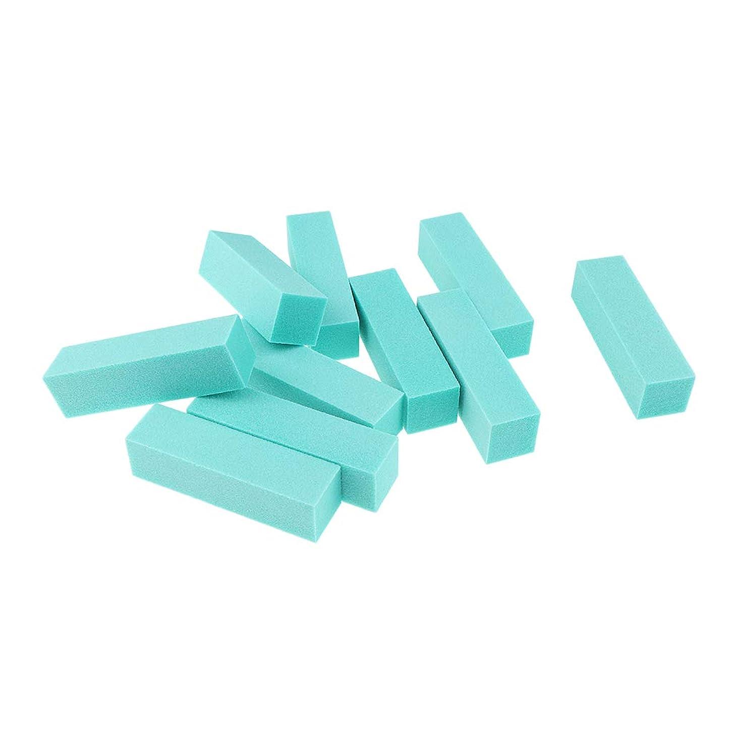 株式会社美的抽象化10個 ネイルアートファイル バッファーファイルブロック ゲル/UV研磨用 6色選べ - 緑
